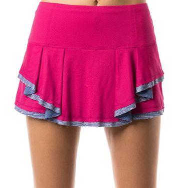 Lucky in Love Shape It Up Mixed Media Border Skirt - Raspberry