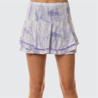 Lucky In Love Lilac It A Lot Long Lucid Flip Skirt - White