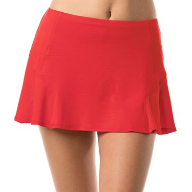 Lucky in Love Bloomy Dimensions Step Up Skirt - Crimson
