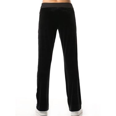 Lucky in Love Velvet Vision Velvet Track Pant - Black