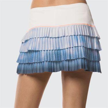 Lucky in Love Celestial Geo Pleated Skirt - Bluebell