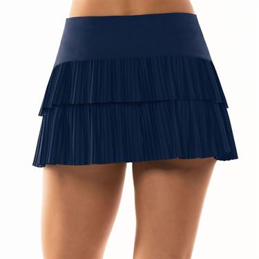 Lucky in Love Lace Yourself Sunrise Pleated Tier Skirt Womens Midnight CB341 401