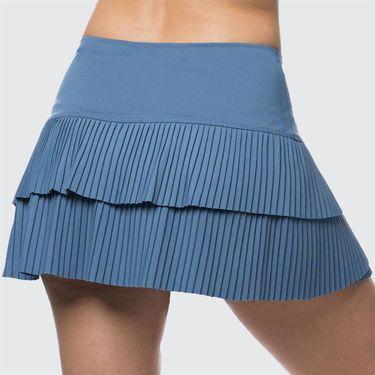 Lucky in Love Celestial Geo Sunrise Pleated Tier Skirt - Steel Blue