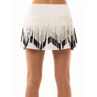 Lucky In Love Laser Chevron Fringe Skirt Womens White/Midnight CB342 122
