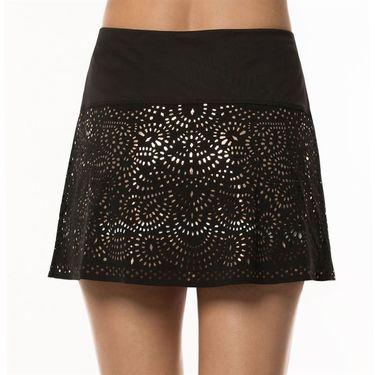Lucky in Love Metallic Long Laser Shine Skirt Womens Black/Rose Gold CB344 851010