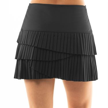 Lucky in Love BMS Hi Pleat Scallop Skirt - Charcoal
