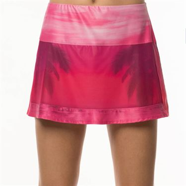 Lucky In Love Tropic Chroma Tropic Shadow Skirt Womens Shocking Pink CB354 823645
