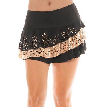Lucky in Love Metallic Laser Rally Skirt Womens Black/Rose Gold CB355 853010