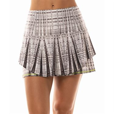 Lucky in Love Mad About Plaid Long Nouveau Plaid Skirt Womens Charcoal CB362 A55040