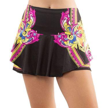 Lucky in Love Rockin Rococo Long Flip Skirt Womens Black CB362 C75001