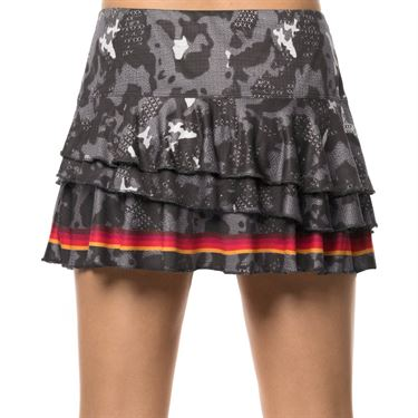 Lucky in Love Camo Groove Rally Skirt Womens Charcoal CB363 842040