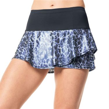 Lucky in Love On The Prowl Flip Skirt Womens Charcoal CB369 040