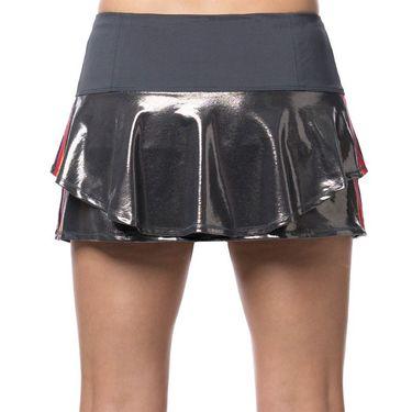 Lucky in Love Camo Groove Stripe Metallic Flip Skirt Womens Gunmetal CB369 845050