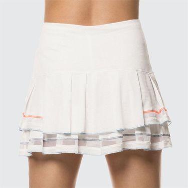 Lucky in Love Celestial Geo Mesh Pleated Tier Long Skirt - White