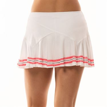 Lucky in Love Cest La Vie Amour Flounce Skirt Womens White CB372 A00110