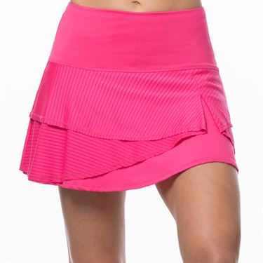 Lucky In Love Tropic Chroma Long Shadow Stripe Origami Skirt Womens Shocking Pink CB375 645