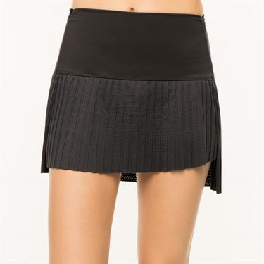 Lucky in Love BMS Hi Chop Pleated Skirt - Black