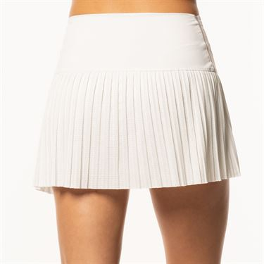 Lucky in Love BMS Hi Chop Pleated Skirt - White