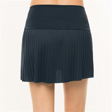 Lucky in Love BMS Hi Chop Pleated Skirt - Midnight