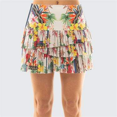 Lucky in Love Hi Hot Tropic Pleat Scallop Skirt - Multicolor