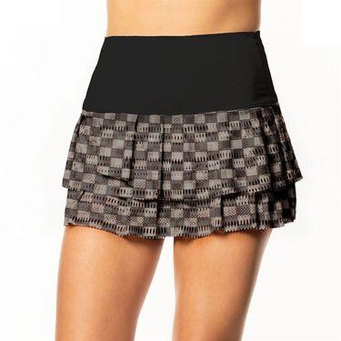 Lucky in Love BMS Core Hi Check Skirt Womens Black CB384 A30001