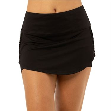 Lucky in Love Tahiti Macrame Skirt - Black