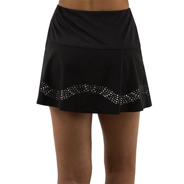 Lucky in Love Laser Long Sidewinder Skirt - White/Black