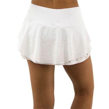 Lucky in Love Laser Viper Flip Skirt - White