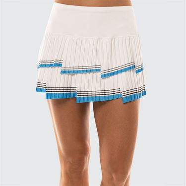 Lucky in Love Future Retro Im So Fly Pleated Skirt Womens White CB398 A31110