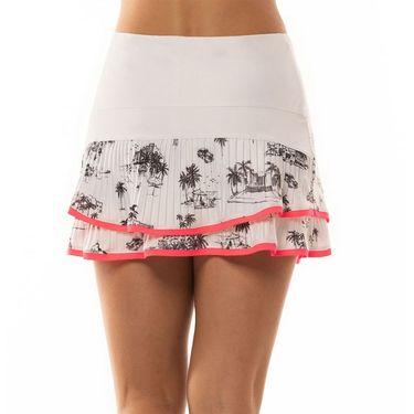 Lucky in Love Cest La Vie Long Skirt Womens White CB401 A16110