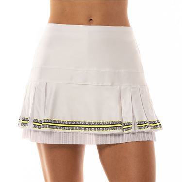 Lucky in Love Lace Yourself Long Racy Lacey Skirt Womens White CB414 A13110