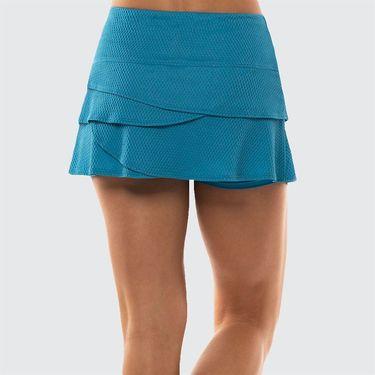 Lucky in Love Future Retro Wavy Scallop Skirt Womens Paradise Blue CB415 450
