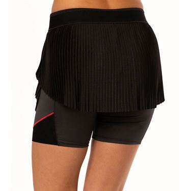 Lucky in Love Cest La Vie Hi Brid Pleated Skirt Womens Black CB418 001