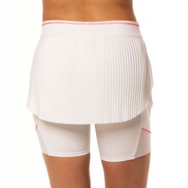 Lucky in Love Cest La Vie Hi Brid Pleated Skirt Womens White CB418 110