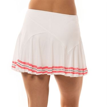 Lucky in Love Cest La Vie Long Amour Flounce Skirt Womens White CB421 A00110