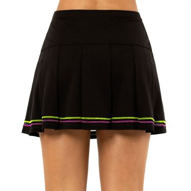 Lucky in Love Rockin Rococo Long Micro Tuck Skirt Womens Black CB423 001