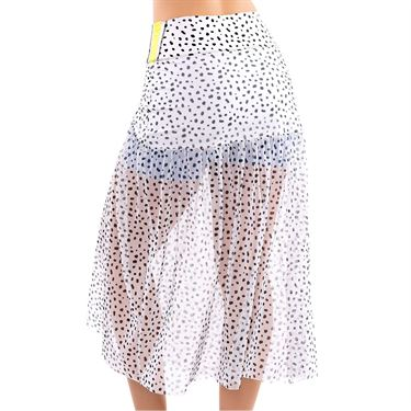 Lucky in Love Long Deco Dot Mesh Skirt Womens White CB428 D41110