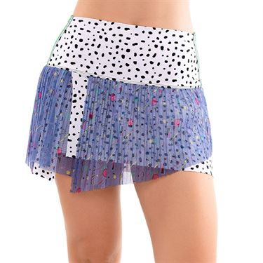 Lucky in Love Hi Miami Pop Pleated Skirt Womens Ice CB429 D46417