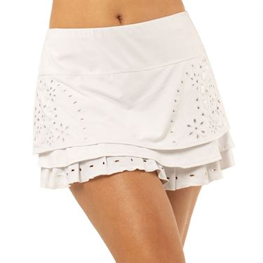 Lucky in Love Eyelet Go Eyelet Tier Skirt Womens Orange Frost CB433 B79824