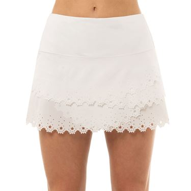 Lucky in Love Laser Star Burst Scallop Skirt Womens White CB438 B81110