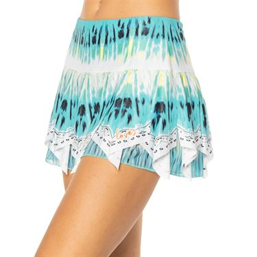 Lucky in Love Peace Out Trippy Scarf Skirt