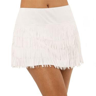 Lucky in Love Laser Level Up Fringe Skirt Womens White CB448 B96110