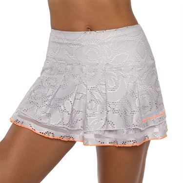 Lucky in Love Eyelet Go Long Lace Line Skirt Womens White CB456 C11110