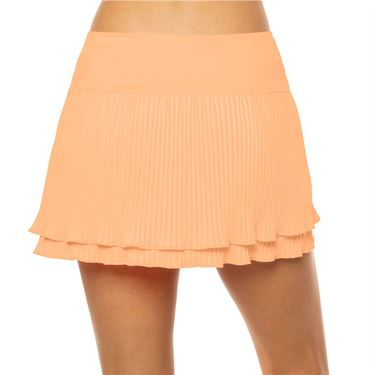 Lucky in Love Eyelet Go Long Effortless Skirt Womens Orange Frost CB461 824