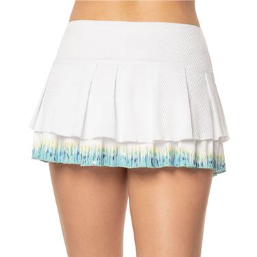 Lucky in Love Peace Out Let It Be Skirt Womens White CB463 C33110