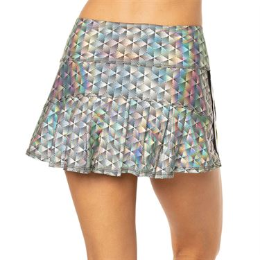 Lucky in Love 10th Anniversary Pop Star Skirt Womens Black Iridescent CB464 981
