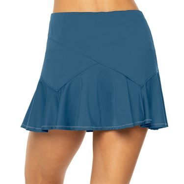 Lucky in Love A Stitch In Time Long Flounce Skirt Womens Slate CB466 407