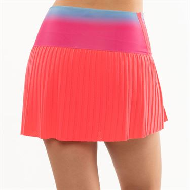 Lucky in Love Hi Sunset Pleated Skirt Womens Coral Crush CB469 D33647
