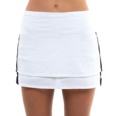 Lucky in Love City Graffiti Long Snap To It Skirt Womens White/Black CB483 120