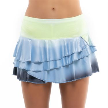 Lucky in Love Going Wild Ombre Rally Skirt Womens Cloud CB499 E39418